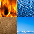 Four elements of nature Stock Images