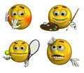Four Emoticons - 7 Royalty Free Stock Image