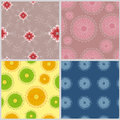 Four fabric bright summer and spring Royalty Free Stock Photos