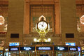 The four faced clock on top of the information booth is one of the most recognizable icon of Grand Central Royalty Free Stock Photo