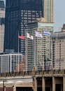 The Four Flags of Chicago Royalty Free Stock Photo