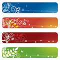 Four floral banners or bookmarks Royalty Free Stock Photo