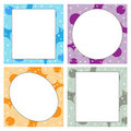 Four floral frame - vector Stock Photo