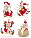 Four funny santas Royalty Free Stock Photos