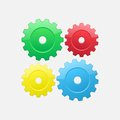 Four gears Royalty Free Stock Image