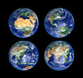 Four Globes Royalty Free Stock Photo