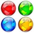 Four Globes Illustration Royalty Free Stock Photo