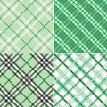 Four Green Plaids Royalty Free Stock Photography