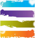 Four grunge colorful borders Royalty Free Stock Photo