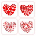 Four heart symbols Royalty Free Stock Photos