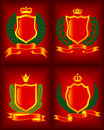 Four heraldic escutcheon. Royalty Free Stock Image
