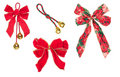 Four Holiday Ribbons Royalty Free Stock Images