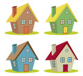 Four houses Royalty Free Stock Image