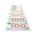 Four hundred dollar notes Royalty Free Stock Photo