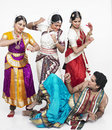 Four indian classical dancers Royalty Free Stock Photo