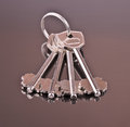 Four keys and background Royalty Free Stock Photo