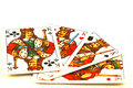 Four kings poker cards Royalty Free Stock Photo