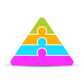 Four layer pyramid diagram template