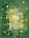Four Leaf Clover Bokeh Border Illustration Royalty Free Stock Photography