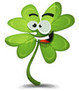 Four leaf clover character illustration of a cartoon funny for irish st patrick s holidays and lucky wishes Royalty Free Stock Photos