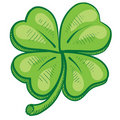 Four leaf clover illustration Royalty Free Stock Image