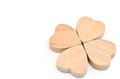 Four-leaf clover made of wood Royalty Free Stock Photo