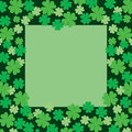 Four Leaf Clover or Shamrock Frame Royalty Free Stock Image