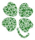 Four-Leafed Clover Collage of Triangles