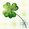 Four Leafed Clovers Royalty Free Stock Photography
