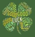 Four leaves clover good luck