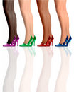Four legs standing wearing high heel shoes. Royalty Free Stock Photos