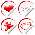 Four love sticker Royalty Free Stock Photos