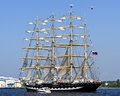 Four-masted barque Krusenstern, Riga - Latvia Royalty Free Stock Photo