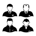 Four men of different professions silhouettes people used for printing presentations websites and more Stock Photo