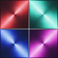 Four metal tiles red green blue and purple illustration texture Royalty Free Stock Photos