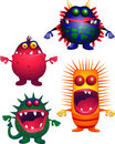 Four monster Stock Image