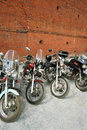 Four motorcycles Royalty Free Stock Image
