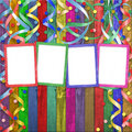 Four multicolored frames Royalty Free Stock Photography