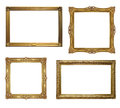 Four old antique frame - set Royalty Free Stock Photo