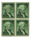 Four old postage stamps from USA one cent Royalty Free Stock Photos