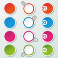 Four options paper circles circle labels eps file Royalty Free Stock Photo