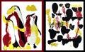 Penguine family art.