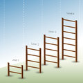 Four Phase Ladder Chart Royalty Free Stock Photos