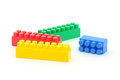 Four plastic building blocks. Stock Photography