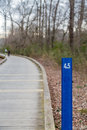 Four Point Five Mile Marker on Fitness Trail