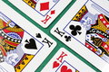 Four poker cards Royalty Free Stock Photography