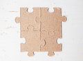 Four puzzle pieces Royalty Free Stock Photo