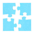 Four  puzzle pieces combined cooperation concept Royalty Free Stock Photo