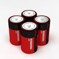 Four rechargeable battery Royalty Free Stock Image