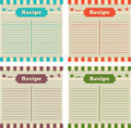 Four recipe cards Royalty Free Stock Photo